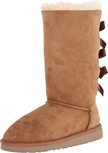 UGG Australia Kids Bailey Bow Tall Boot Chestnut Size 4 M US Big Kid