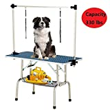 Best Dog Grooming Tables - SUNCOO 48 Inch Large Portable Pet Dog Grooming Review
