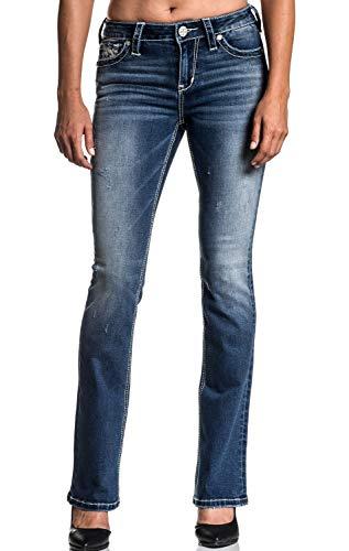 Affliction Jade Standard Cali Boot Cut Leg Fashion Denim Jeans Pants for Women