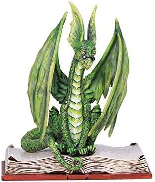 Pacific Giftware Amy Brown Book Green Scholar Dragon Statue Home Decor