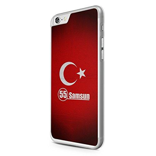 Samsun 55 Türkiye Türkei iPhone 6 Hülle Cover Case Schale Tasche Turkey Bayrak