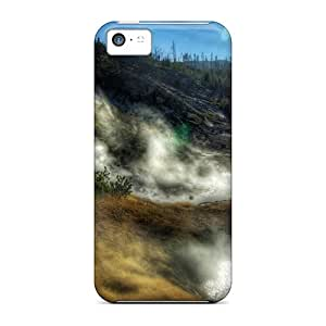High-end Case Cover Protector For Iphone 5c(yellowstone National Park)