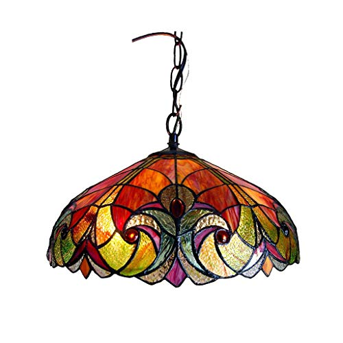 Real Stained Glass Tiffany Style Handcrafted Pendant Light in US - 4