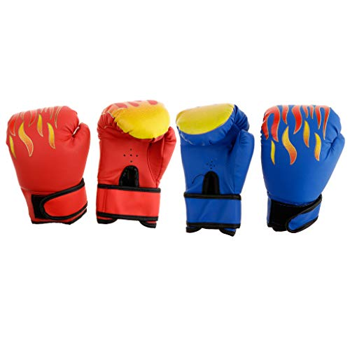 DYNWAVE 2 Pairs/Set Kids Boxing Gloves PU Leather 8oz Boys Girls Punching Bag MMA Muay Thai Training Mitts