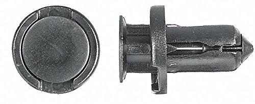 Expanding Push In Rivet, Nylon, 10mm Dia, 15mm L, 10mm, Black