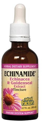 Natural Factors Echinamide Echinacea/Goldenseal Extract, 1.70-Ounce