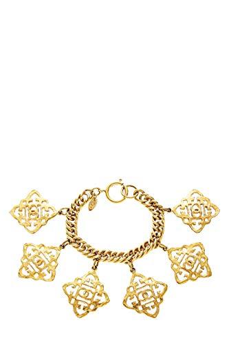 CHANEL Gold 'CC' Charm Bracelet (Pre-Owned)]()
