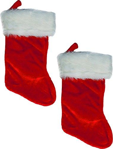 - Custom Bundle Plush Christmas Stockings - 2 Pack