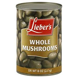 Lieber's Mushrooms Whole 8 Oz. Pack Of 6.