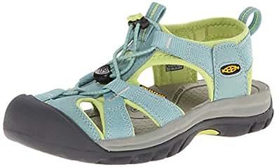 KEEN Women's Venice H2 Sandal, Mineral Blue/Green Glow, 5 M US