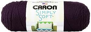 Caron Simply Soft Solids Yarn (4) Medium Gauge 100% Acrylic - 6 oz -  Plum Perfect  -  Machine Wash & Dry
