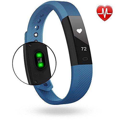 KEDA Fitness Tracker Bluetooth Notification Push Pedometer Smart Wristband (BLUE) by KEDA