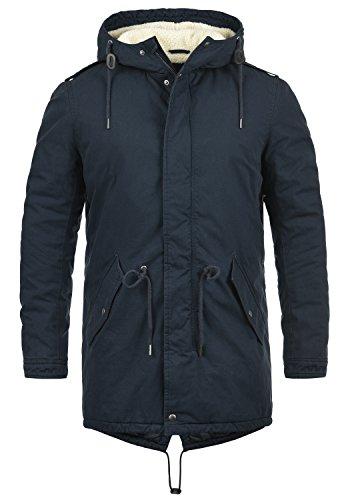 1991 À Longue Insignia Veste Parka D'hiver De Coton 100 Solid Blue Manteau Peluche Doublure Darnell Homme Mouton Avec Capuche Pour Peau x7wRzqU