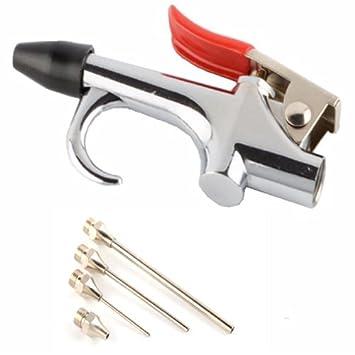 Simplemente plata - 5 piezas Kit de pistola de soplado de aire compresor de aire boquilla punta aguja inflación soplador aire uptip: Amazon.es: Electrónica