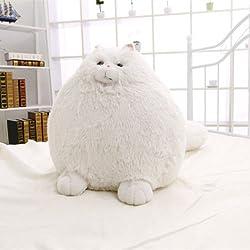 Cute Stuffed White Persian Cat Soft Plush Toy Animal Dolls Kids Children Gift