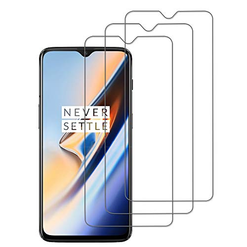 [3 Pack] LALLEY Compatible with Oneplus 6T Screen Protector,HD Clear Tempered Glass Anti-Scratch Bubbles-Free with Lifetime Replacement Warranty
