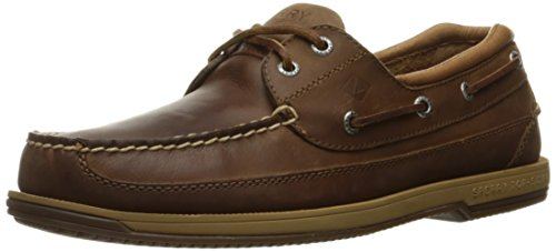 Sperry Top-Sider Men's Charter 2-Eye Withasv Boat Shoe Dark Tan