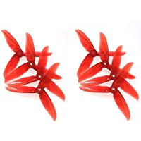 4 Pair DALPROP T5045C Cyclone 5 Inch 3 Blade Propeller Clover Prop for RC Drone FPV Racing-Crystal Red