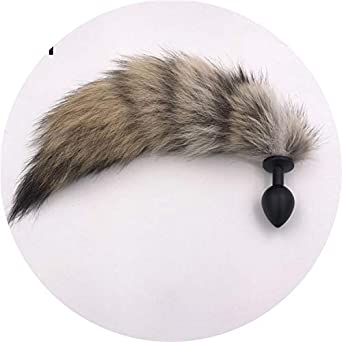 76851e30f Image Unavailable. Image not available for. Color  Rose1 Sex Toys 3 Size  Anal Plug Metal Fox Tail ...