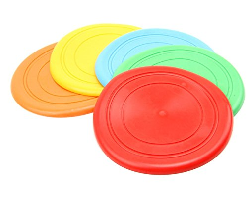 winwin,5pcs Dog Training Fetch Toy Soft Rubber Flyer Frisbee Disc Pets Soft Silicone Tooth Resistant Toy Outdoor Fun by winwinzx