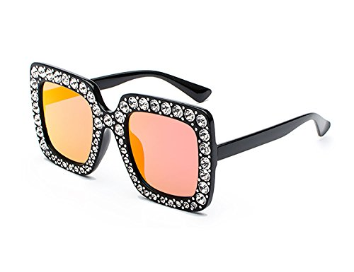 Bmeigo Oversized Mujer Gafas Gafas Sol Sparkling Eyewear Elegante grande De Design C4 Plaza UV400 RxIRAEt