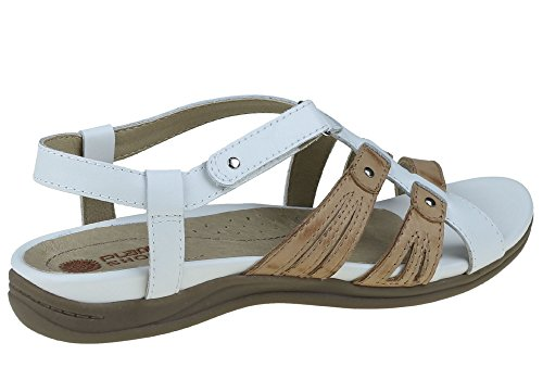 Womens Flat Supportive Shoes Sandals Iris Comfort White Leather Planet ax7ERxq