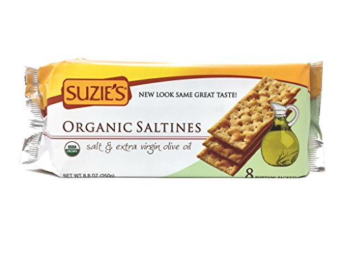 Organic Salted Tomatoes - Suzie's 100% Organic Crackers, Salted with Extra Virgin Olive Oil, 8.8-Ounce Packages (Pack of 12)