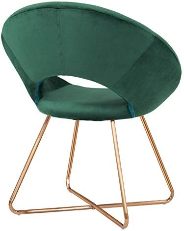 4113wQ q6tL. AC Duhome Modern Accent Velvet Chairs Dining Chairs Single Sofa Comfy Upholstered Arm Chair Living Room Furniture Mid-Century Leisure Lounge Chairs with Golden Metal Frame Legs Set of 2 Dark Green    Product Description