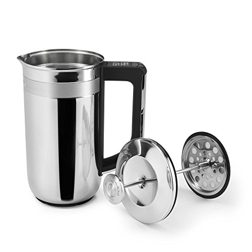 KitchenAid 25 Oz. Stainless Steel Precision Press Coffee Maker with Scale and (Kitchenaid Stainless Steel Cleaner)