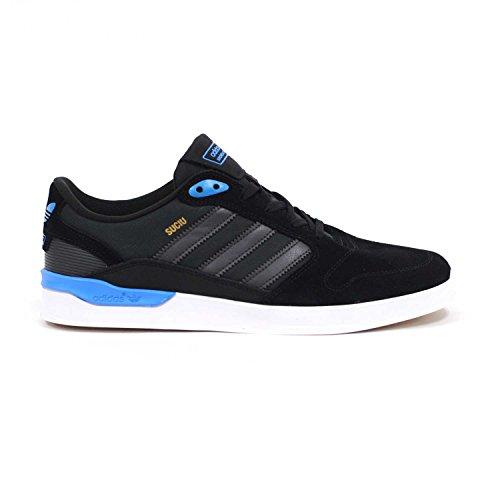 Adidas ZX Vulc (Black/Solid Grey/Solar Blue) Men's Skate Shoes-13