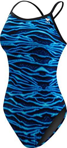 01fb5973a47 TYR Women's Voltage Diamondfit Swimsuit, Blue, Size 26 - Buy Online ...