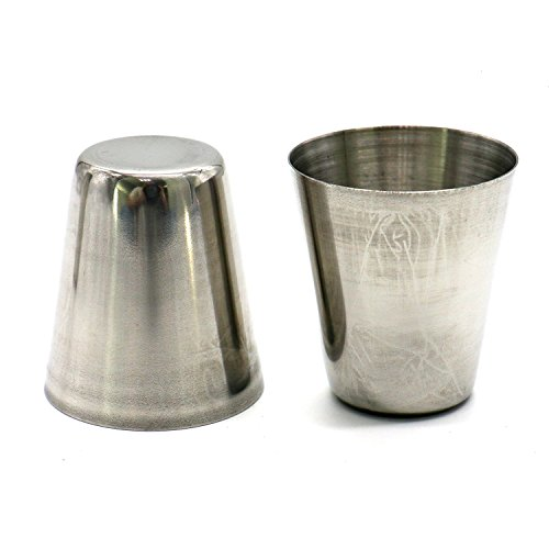 HUELE Set of 15pcs Stainless Steel Shot Glasses Drinking Vessel Drinking Cup Barware (1 Ounce) by HUELE (Image #3)