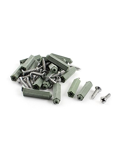DealMux 10 Pcs Silver Tone Stainless Steel 13mm Thickness Glass Clip Clamp by DealMux (Image #1)