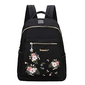 Eshow Sacs à Dos Femme Nylon Petit Backpack Casual léger Fort Multifonctionnel Sac Poitrine Sac pour Les Filles Scolaire…