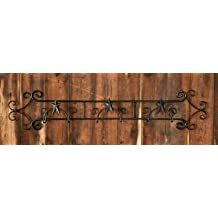 Your Hearts Delight Wall Wrought Iron Folk Star 3-Plate Holder, 42-3/4 by 8-1/4-Inch
