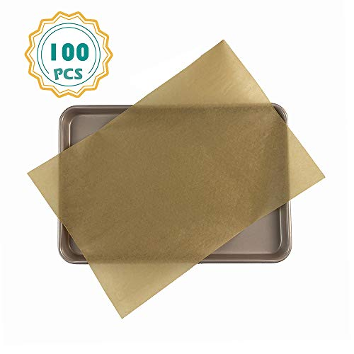 (Unbleached Parchment Paper Sheets-100, 16 x 24 Inch Parchment Sheets for Full Sheet Baking Pan)