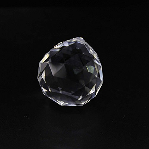 Peiao Suncatchers Clear Glass Crystal Ball Prism Feng Shui Lamp Hanging Drop Chandelier Pendants Suncatchers (60mm) Review