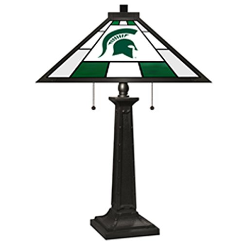 Imperial Officially Licensed NCAA Merchandise: Tiffany-Style Stained Glass Desk Lamp, Michigan State - Glass Stained Game Table State