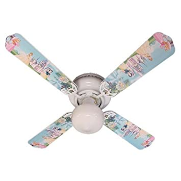 Ceiling Fan Designers Ceiling Fan, Disney Princesses Castle, 42