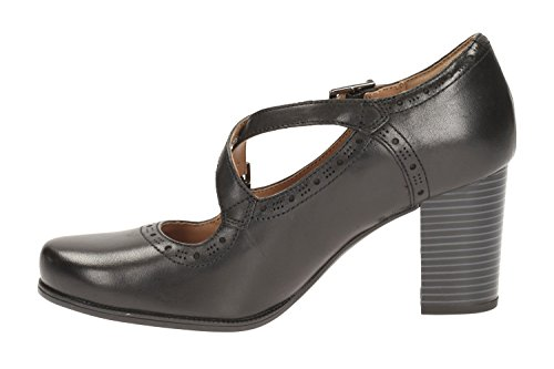 Clarks pour femme Casual Clarks Ciera Short Mer Chaussures en cuir en noir 1jo7AA