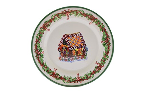 Christopher Radko Traditions Holiday Celebrations Salad Plate Gingerbread House