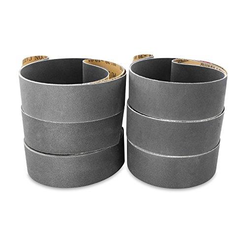2 X 72 Inch Silicon Carbide Fine Grit Sanding Belts 220, 320, 400 Grits, 6 Pack Assortment (220 Belt)