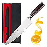 Limeng Chef's Knife, 8-Inch Chef's Knife High Carbon Stainless Steel Sharp Knife Ergonomic Equipment, Anti Corrosion,Best Choice for Kitchen and Home