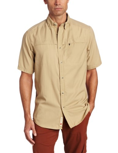 Dakota Grizzly Men's Tildan Quick-Dry Shirt, Khaki, X-Large