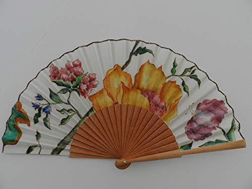 Abanico español/Abanico pintado a mano/Abanico flores/Abanico ...
