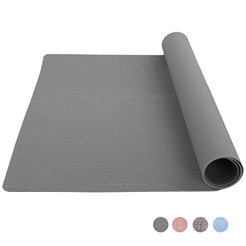 Bakingfun Silicone Placemat for Dining Table Reusable Kids Place Mat Heat Resistant Silicone Baking Mat - Greyish