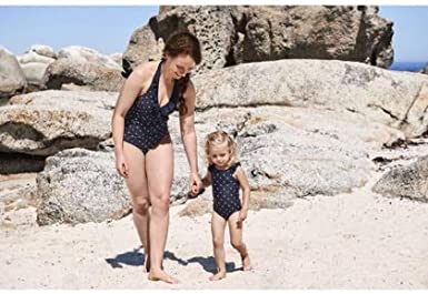 6-12MOS Polarn O Pyret BATHERS DOT ECO Frill Tank Suit