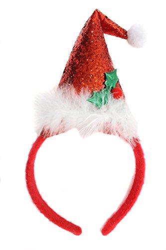 Bauer Pacific Women's Glitter Santa Hat Headband