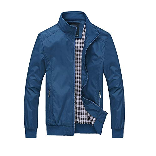 Bomber for Solid Mens Blazer Slim Plus Winter Fashion Men Suits Jacket Clothing Zipper Warm Overcoat Size Pocket Coat Blue Waterproof Handsome Utility Outwear Jackets Coat PRINCER Tops pxqIUBB