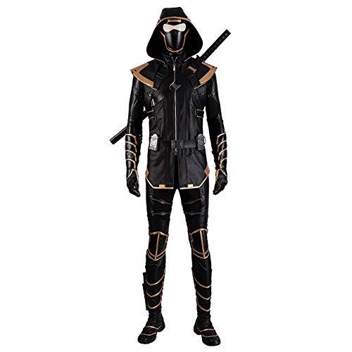 Avengers Endgame Marvel Costume Cosplay Adult Hawkeye Barton Jacket Full Set mask Knife ()